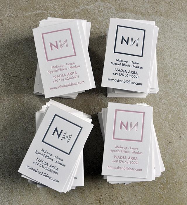 Visitenkarten NN Maskenbildner Letterpress 02