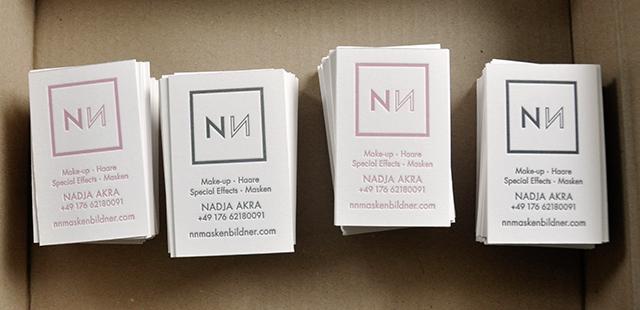 Visitenkarten NN Maskenbildner Letterpress 03